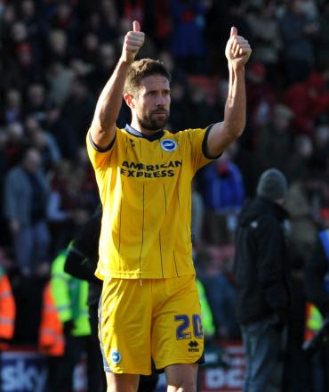 MATCH WINNER: Matthew Upson's header condemned Middlesbrough to a 1-0 defeat to Brighton