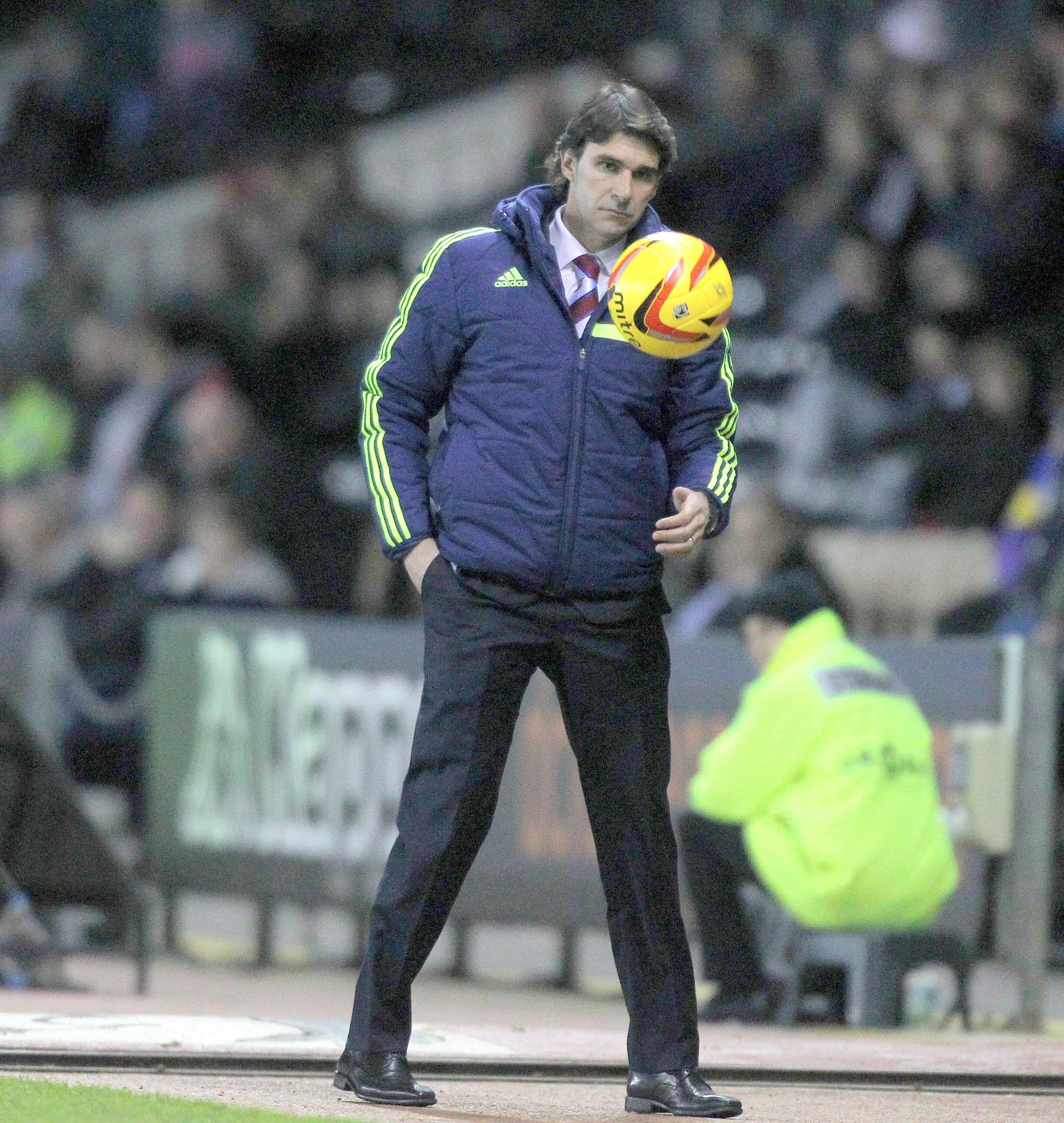 TRAINING GAME: Aitor Karanka has had a full week to iron out problems with his squad