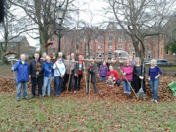 The residents of the Stanhope Park area, who took part in a leaf clearing exercise