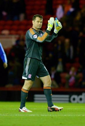 Staying: Shay Given will be at the Riverside until February