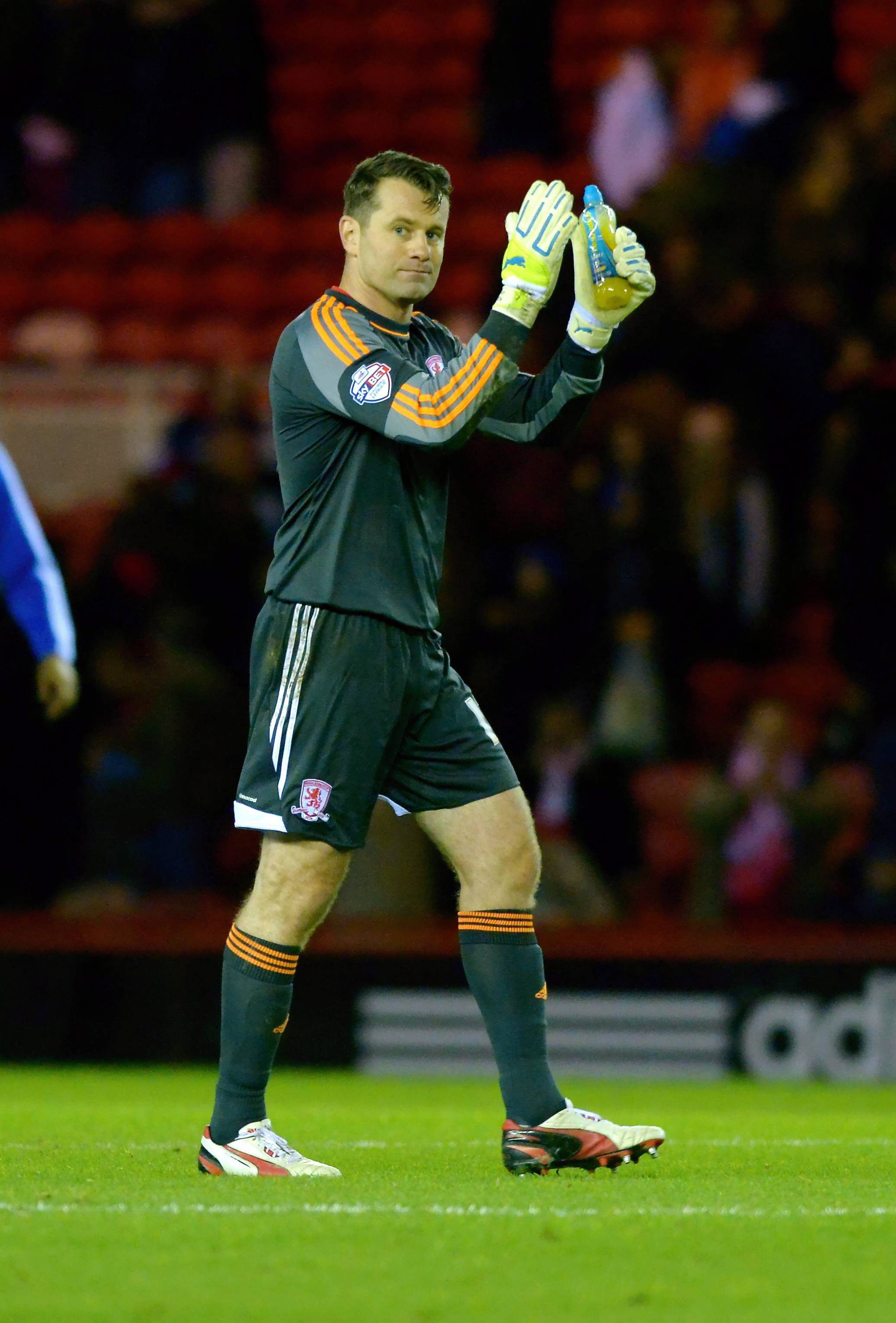 Will he stay? Shay Given was due to play his last Boro game today but will be staying until February 28