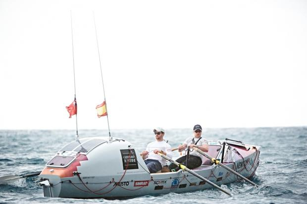Darlington and Stockton Times: NEARING FINISH: Atlantic rowers Dan Howie and Will North