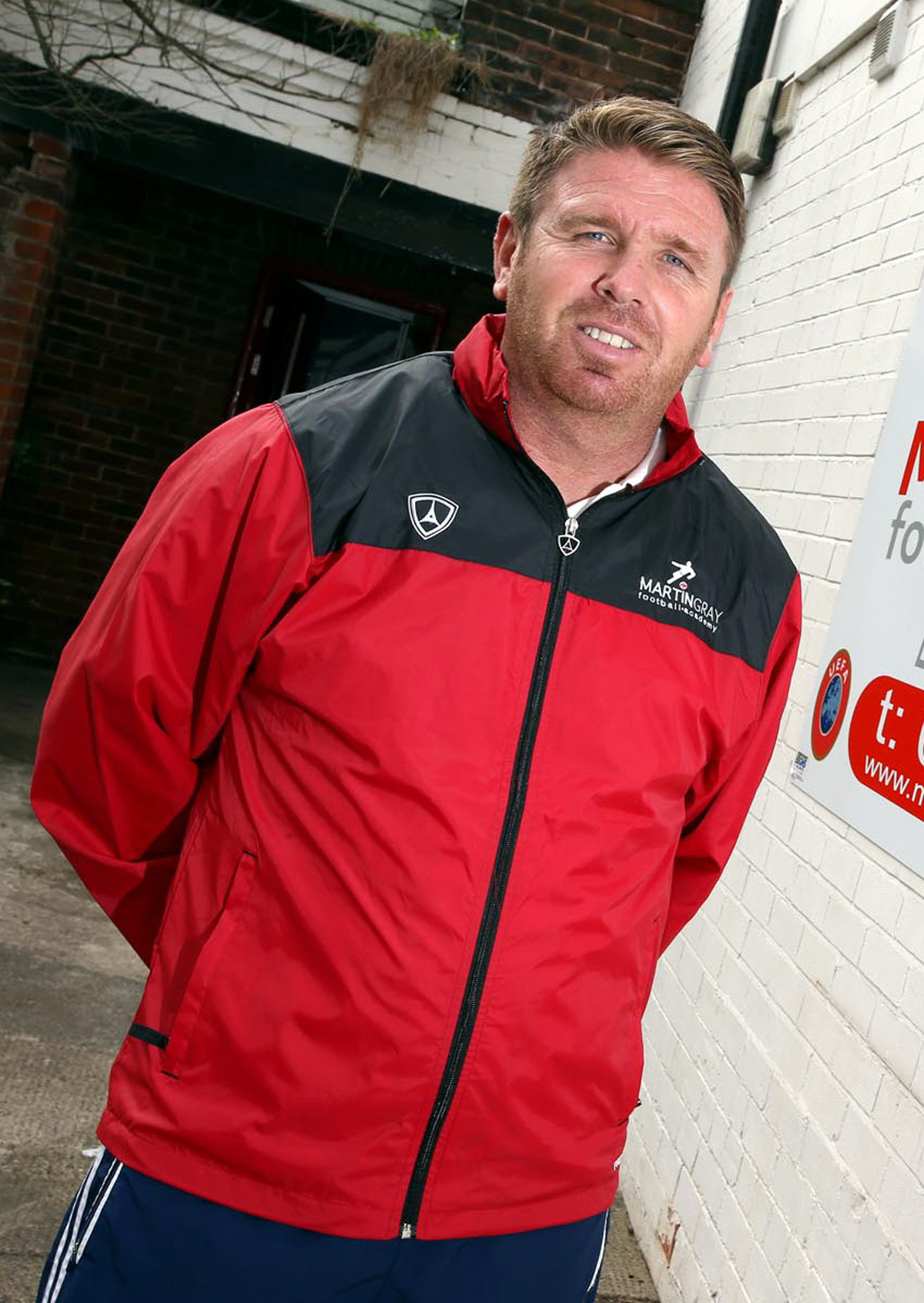 GAME ON: Darlington manager Martin Gray
