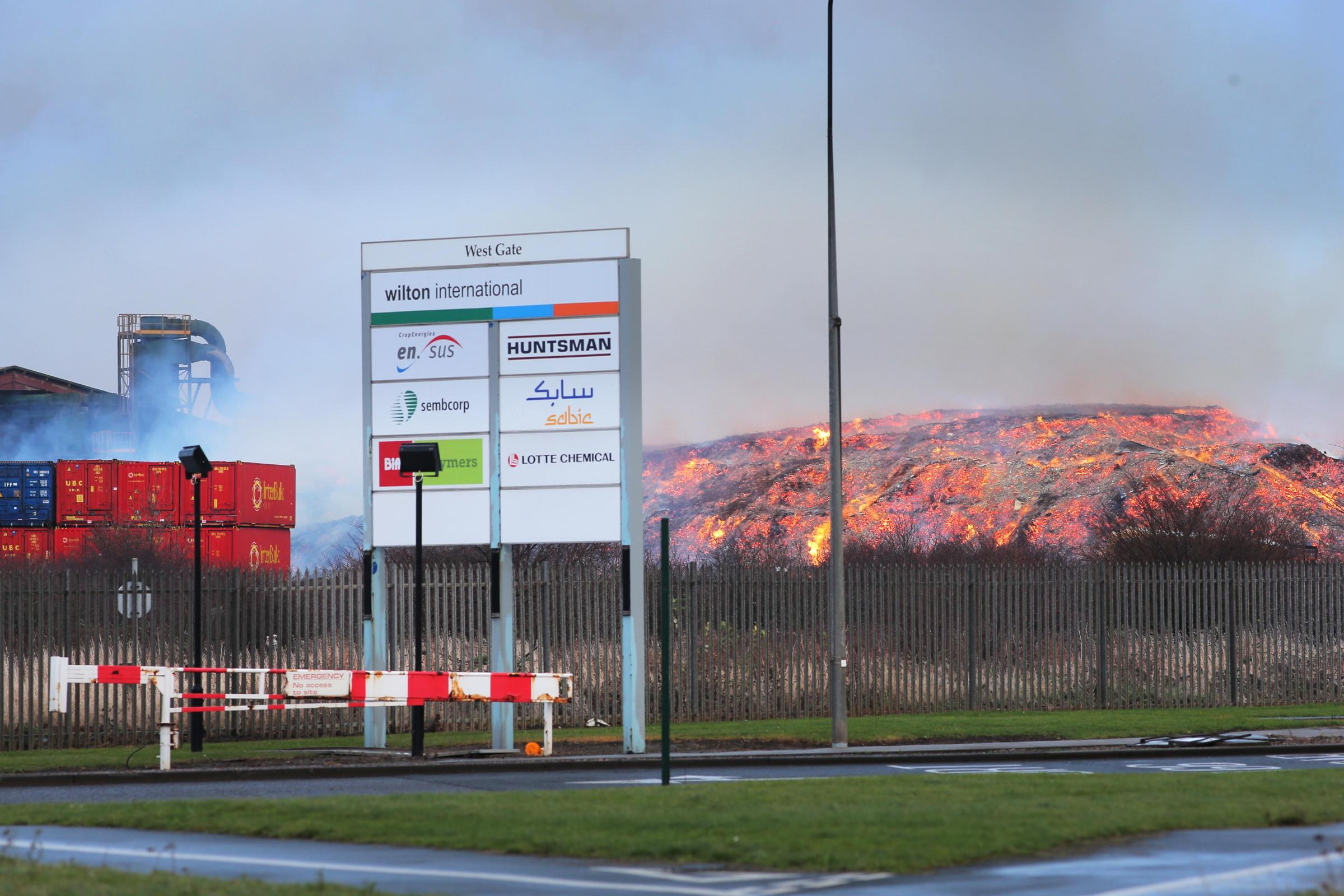 Fire at UK Wood Recycling's