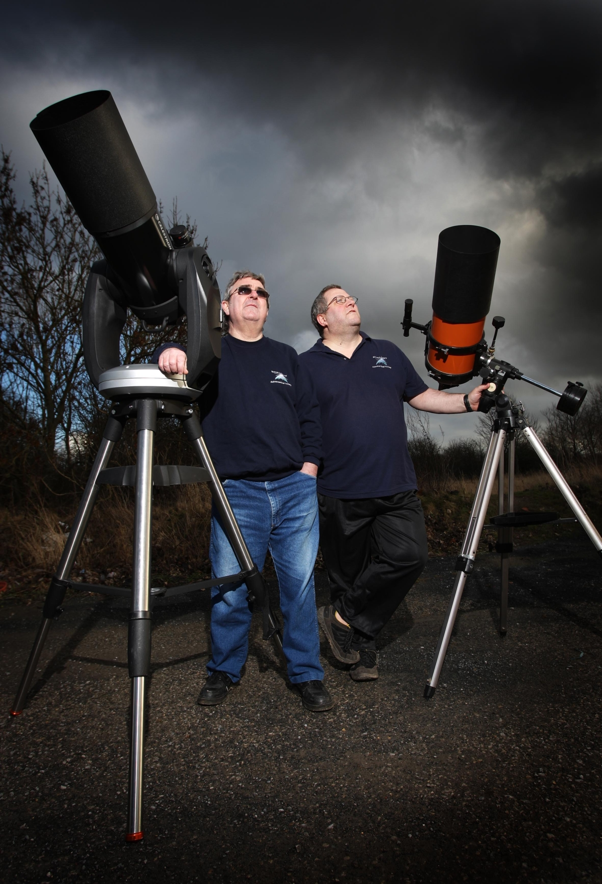 Co-founders of Bishop Auckland Astronomical Society, Duane Cox (left) and Karl Jennings (right) are giving a talk and demo at a Dark Skies event, organized by North Pennines Area of Outstanding Natural Beauty.