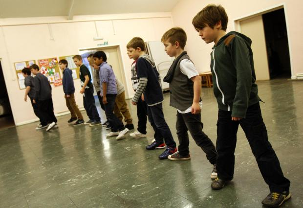 Darlington and Stockton Times: YOUNG TALENT: The young hopefuls at the open audition in Shildon Methodist Church Hall