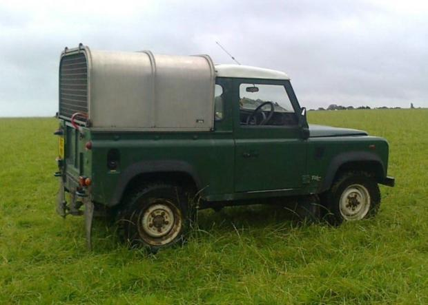 The Land Rover Defender 90 was stolen from outside a farm shop