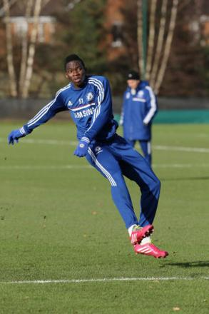 NEW BOY: Kenneth Omeruo has targeted a challenge to the Championship's top six while at Middlesbrough