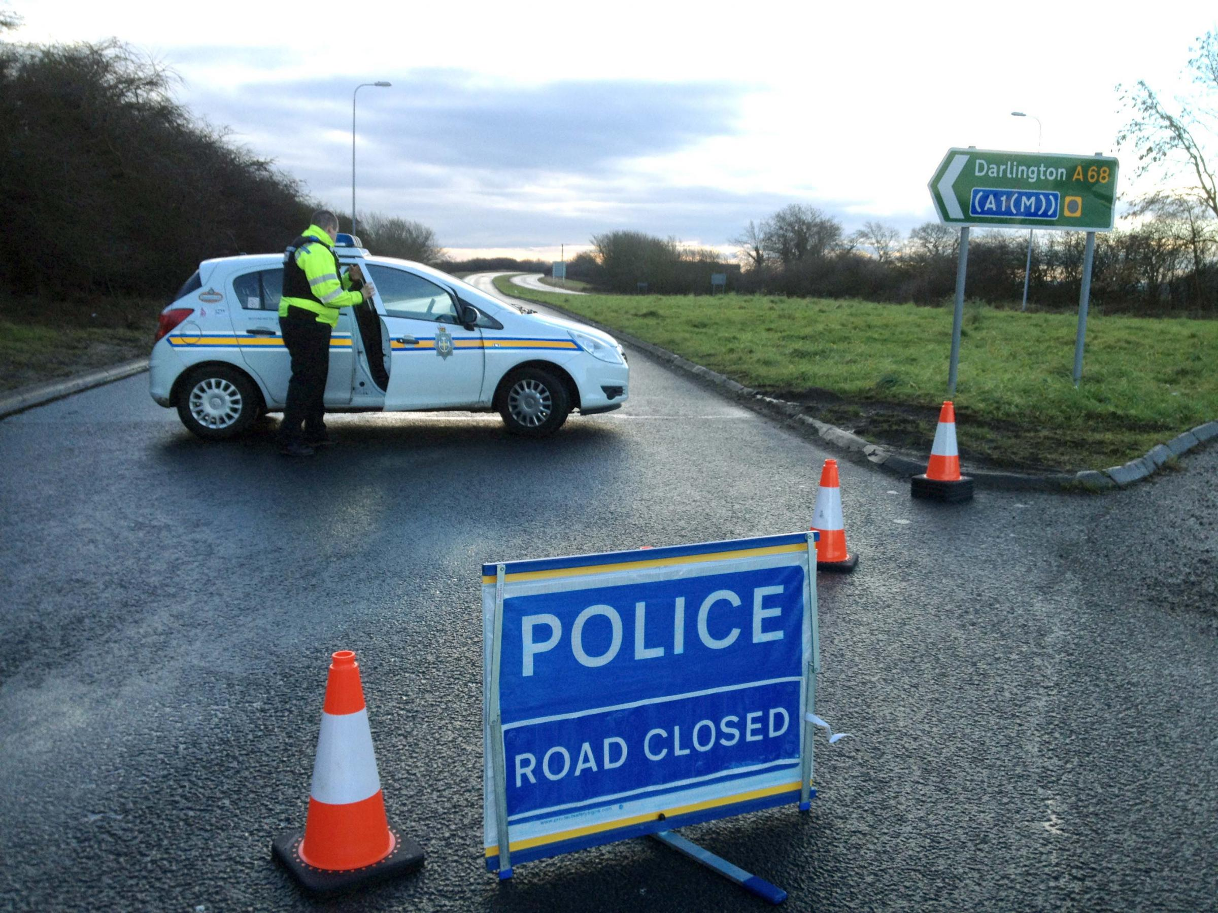 THE A68 was closed at Burtree Gate near Darlington this morning after the fatal accident. It has now reopened.