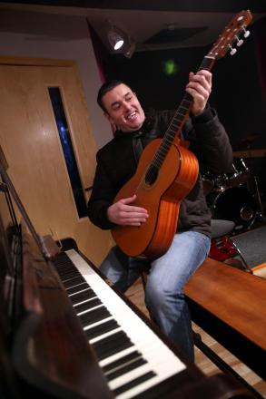 BUCKET LIST: Learning to play a musical instrument is one of the challenges Andrew Thompson has set himself as part of a 40th birthday bucket list