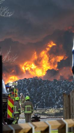 Tyre fire still burning nearly two weeks after it started