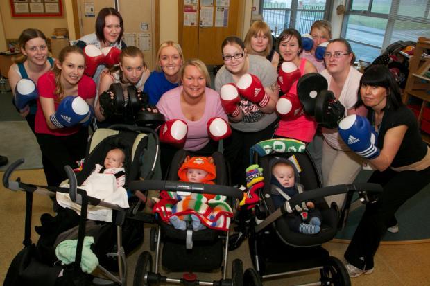 Mothers at Woodhouse Close for a buggy bootcamp