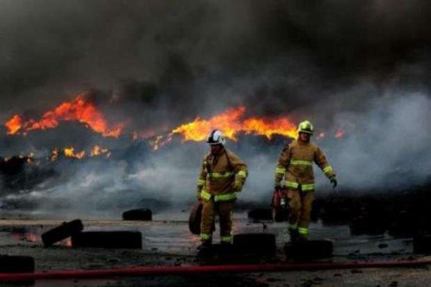 The tyre fire at a recycling plant is expected to continue into February