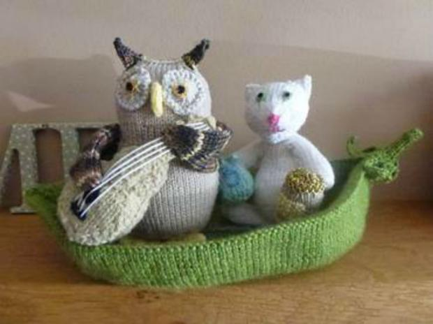 One of the woolly creations already made by Northallerton's ninja knitters