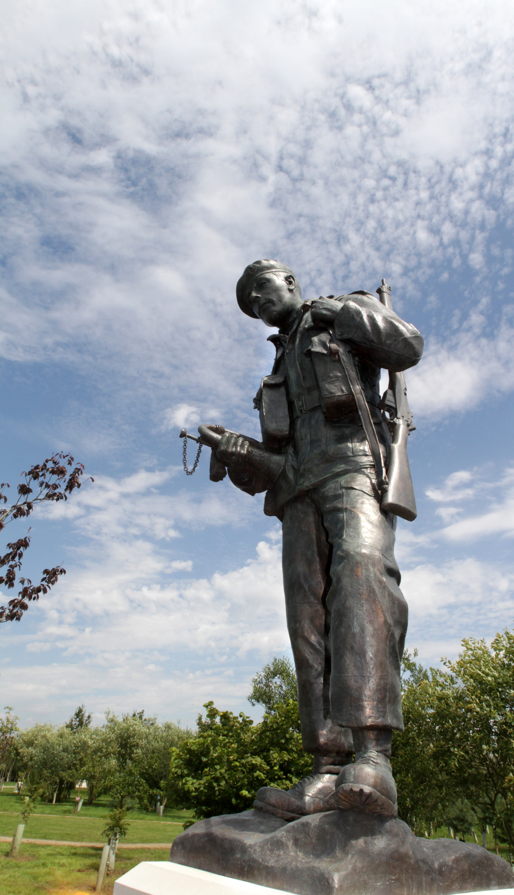 The orginal DLI Memorial unveiled in Staffordshire