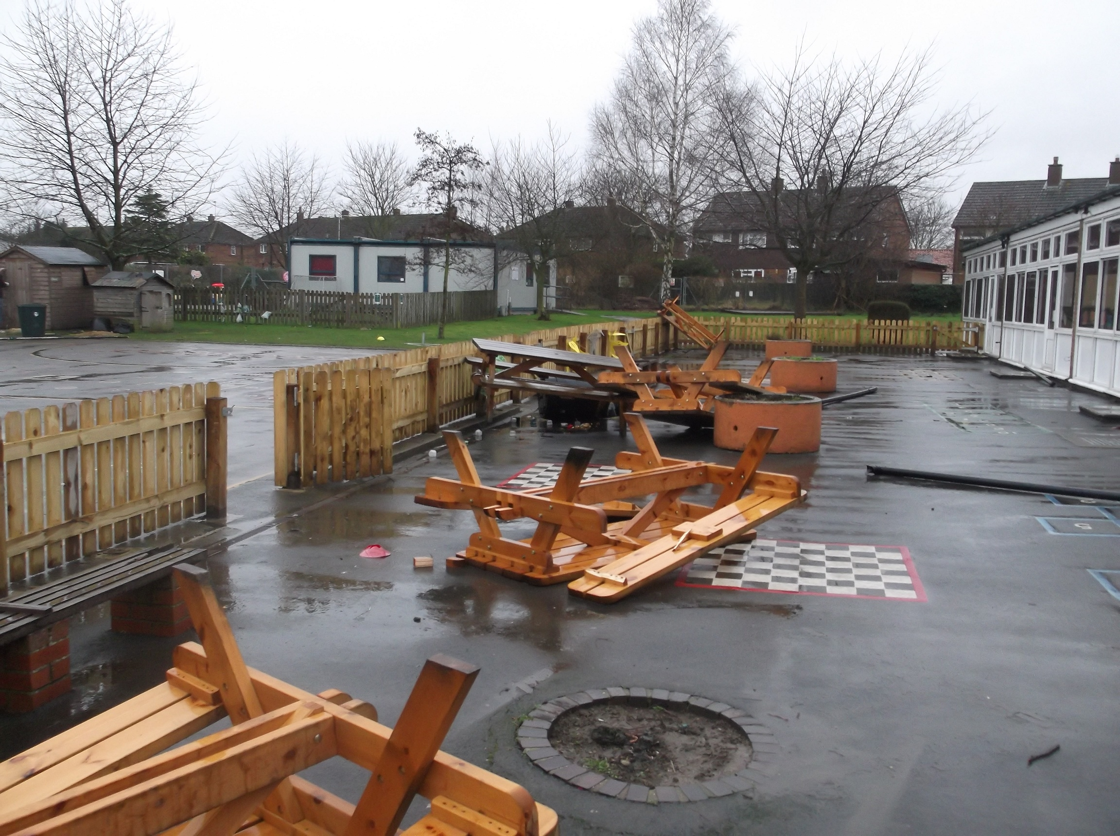 Some of the damage at Malton primary school.