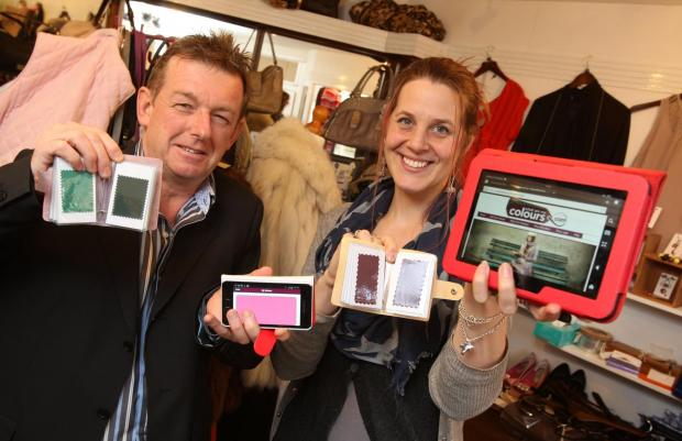 Darlington and Stockton Times: COLOUR CO-ORDINATED: Entrepreneur Geoff Dixon and image consultant Leah Hobson