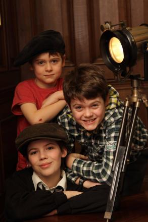 ON STAGE: From top, Fergal Deane, Conall Deane and Sam Hughes