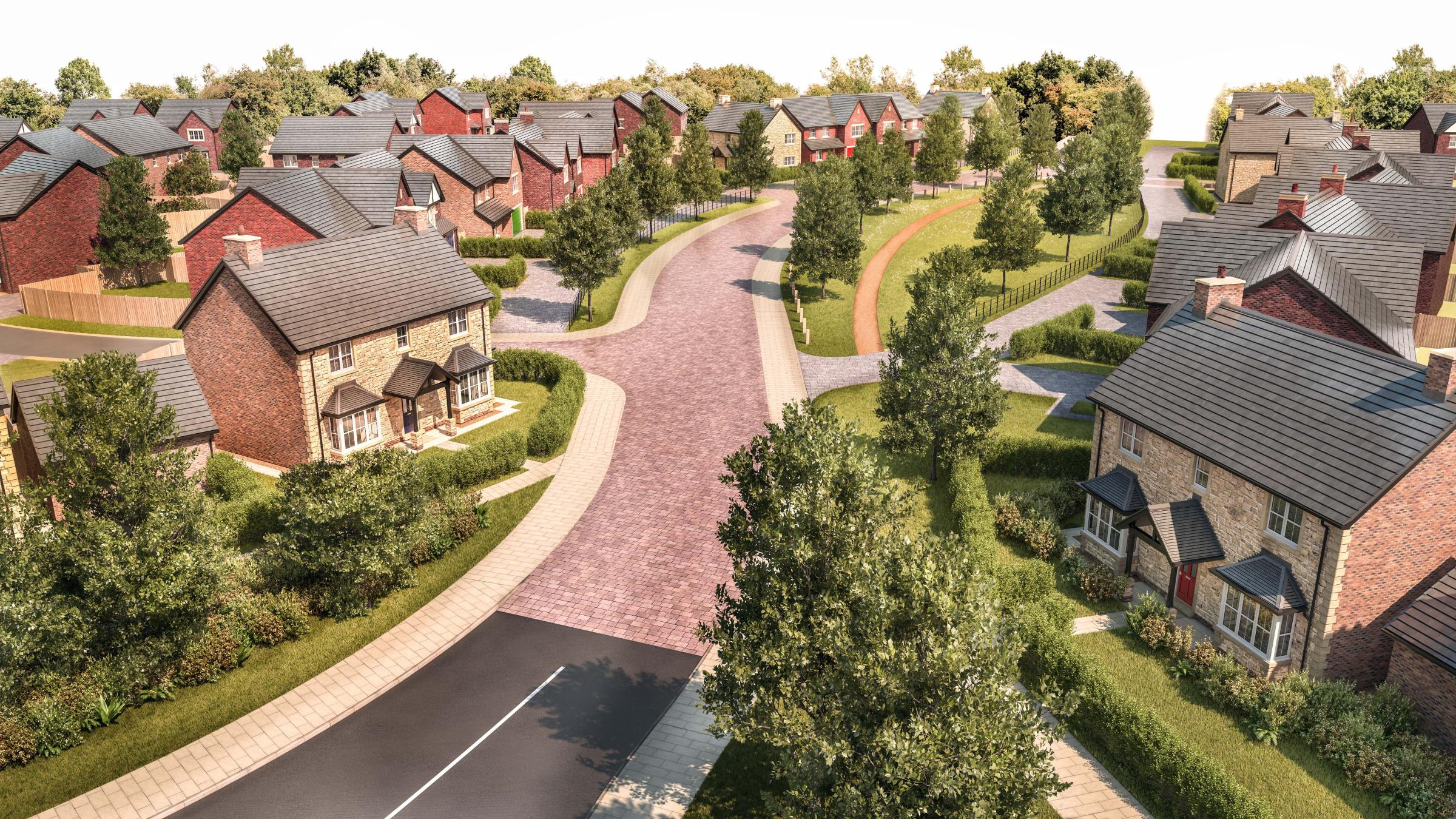 An artist's impression of the proposed housing development near Eden Drive in Sedgefield