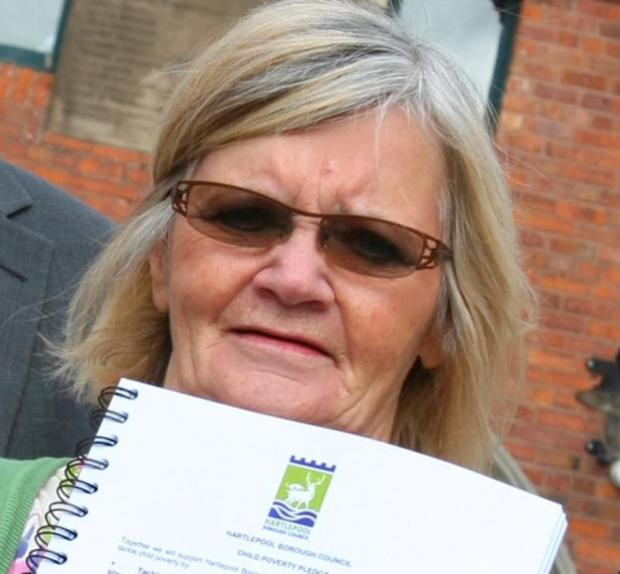 Hartlepool councillor Cath Hill, pictured in 2010, who passed away at the weekend.