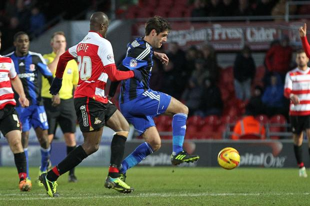 LOAN RANGER: Danny Graham in action for Boro against Doncaster Rovers on Saturday