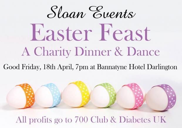 Easter Feast will be held on Friday, April 18 at Bannatyne Hotel, in Darlington
