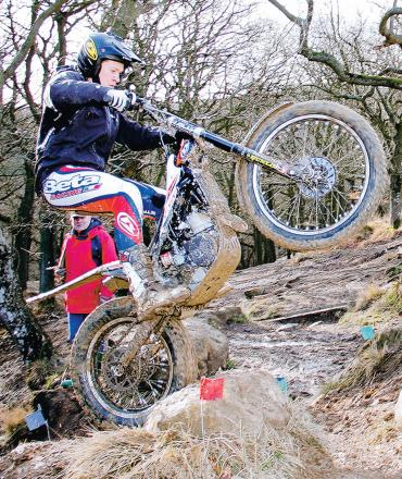 ROCK SOLID: Ian Austermuhle was in superb form on Sunday, winning the Scarborough DMC's February Trial at Harwood Dale