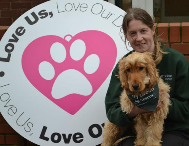 Catherine Foster, from the Jerry Green Dog Rescue in Thirsk with one of the centre's dogs