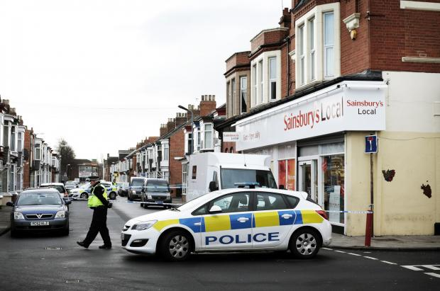 Police cordon off the scene of the robbery in Middlesbrough