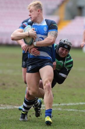 POWERHOUSE: Mowden Park winger Shaun McCartney