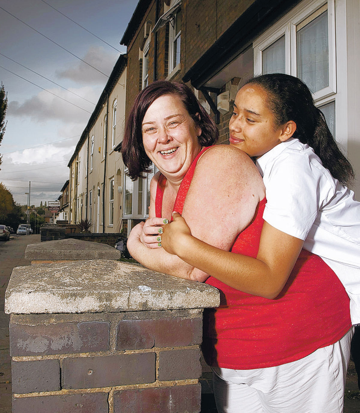 TALKING POINT: Benefits Street's White Dee and her daughter, Caitlin, in James Turner Street, Birmingham
