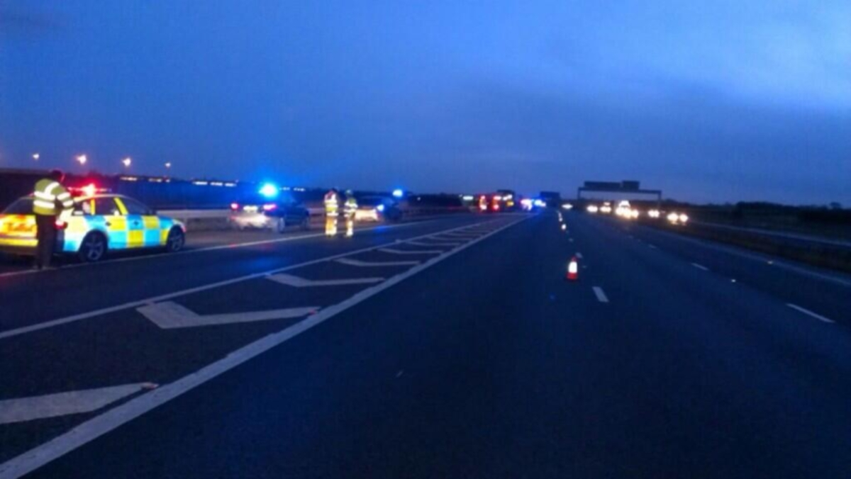 The scene on the A1 tonight. Pic courtesy: NYorksRPG