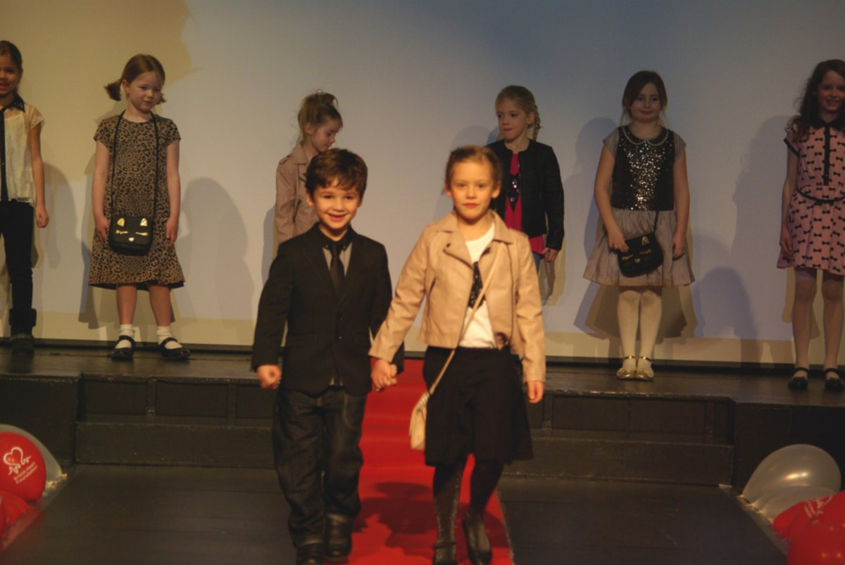 FASHION SHOW: Jamie Ashley and Grace Caygill on the catwalk