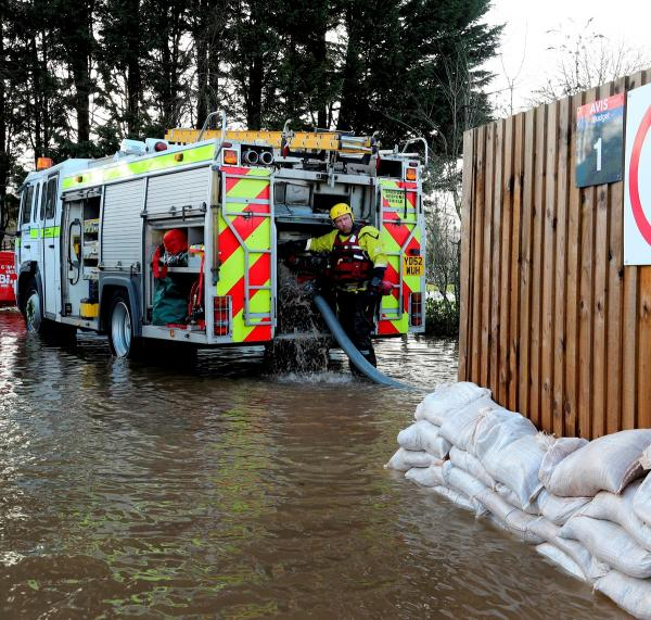 High volume pumps from across the country are involved in the flood battle