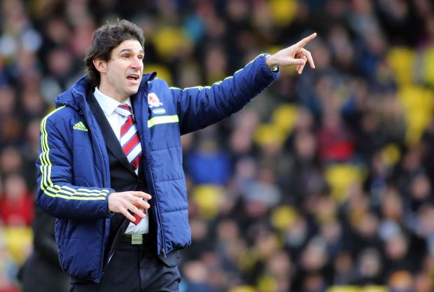 SIGNING OFF IN STYLE: Aitor Karanka has watched his Middlesbrough side win four games in a row