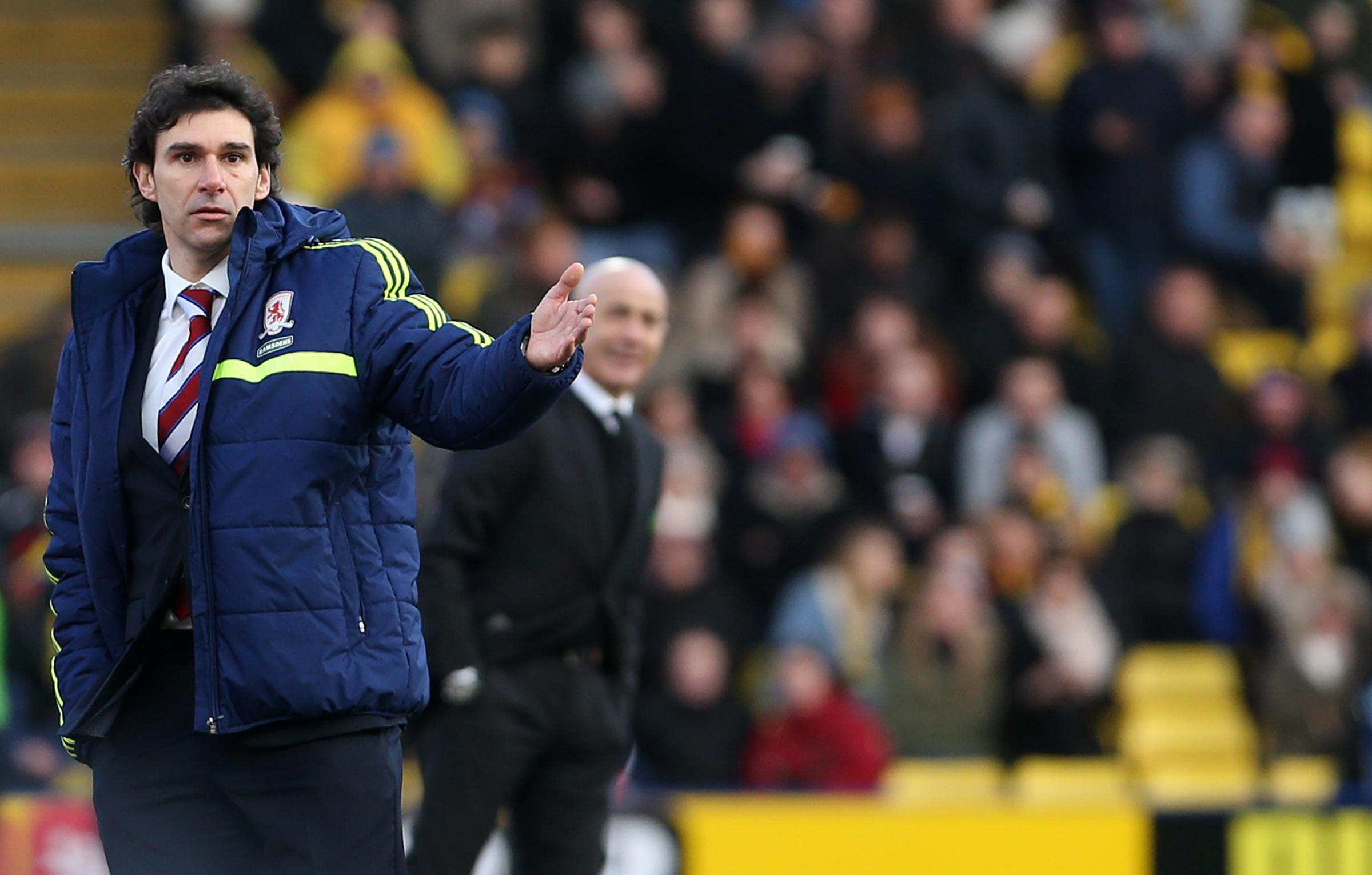 UNHAPPY: Aitor Karanka has accused some of his Middlesbrough players of