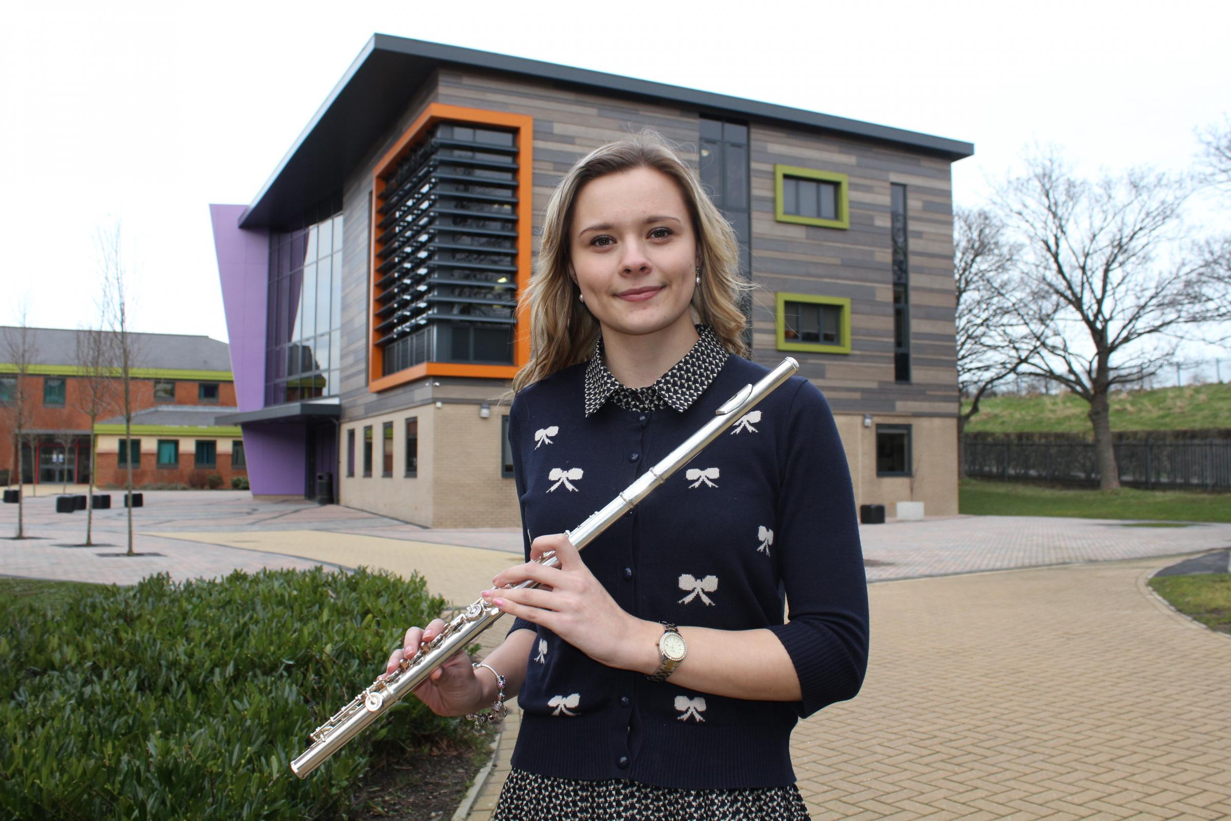Talented musician Millie Stonehouse wins place with the National Youth Wind Orchestra.