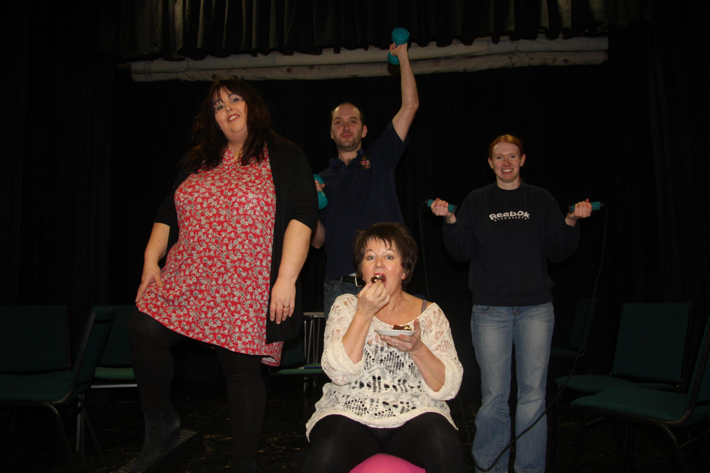 Sedgefield Players rehearse for their upcoming performance of Waiting for Gateaux
