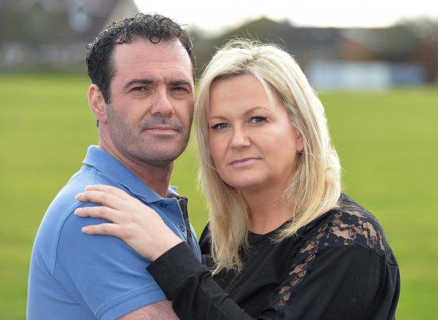 WRONG DIAGNOSIS: Darren Plant with his wife Christine