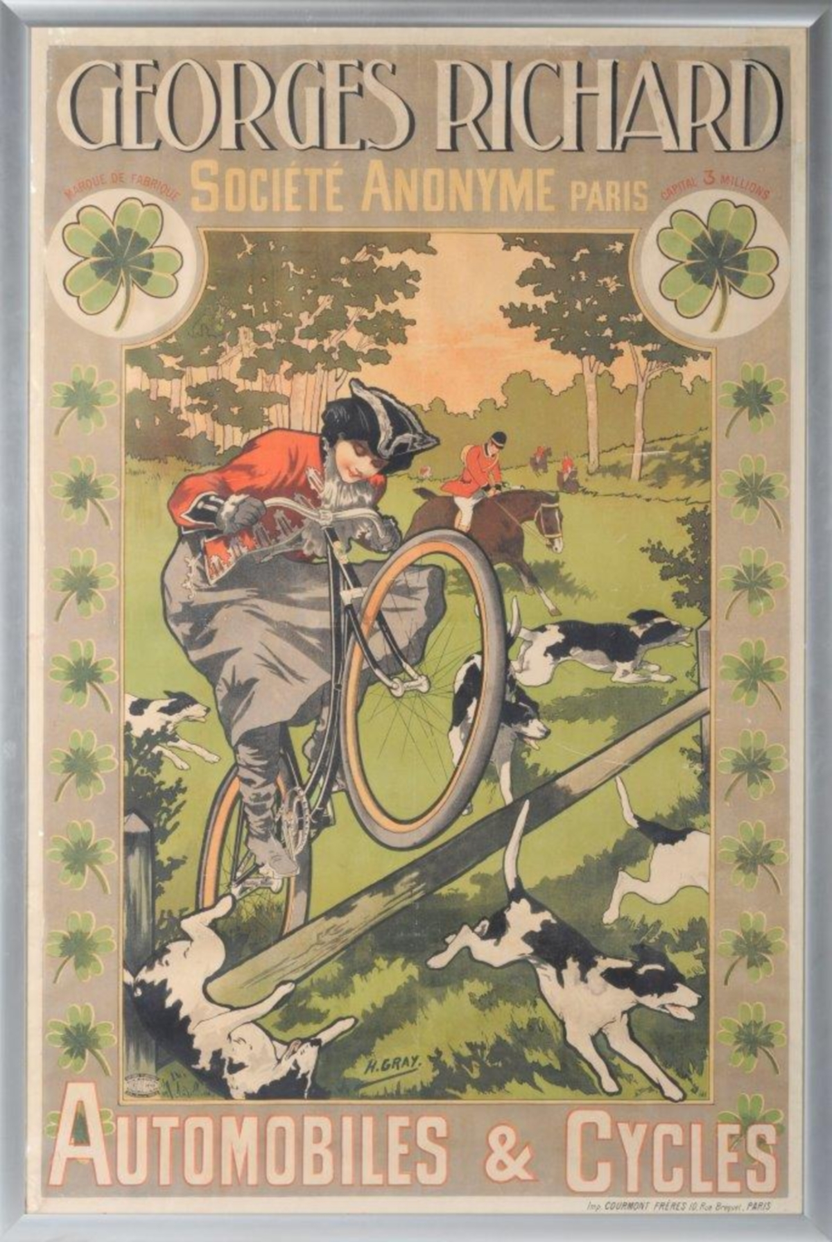 French Advertising Poster for Georges Richard Automobiles & Cycles sold for £750