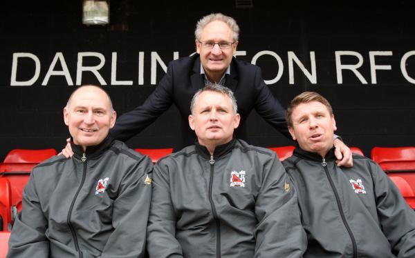 Darlington and Stockton Times: FULL SUPPORT: Malcolm Crosby is backing his former players' attempts to aid Darlington's proposed move to Blackwell Meadows