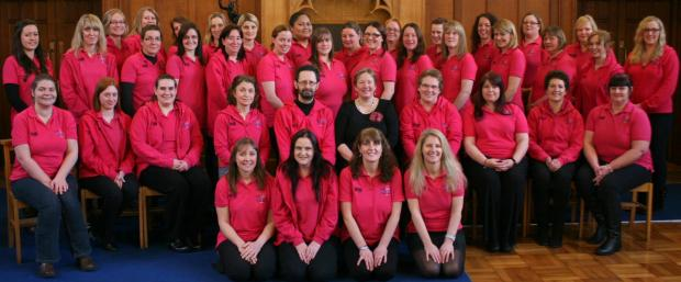 The Military WAGS Choir which will perform at the concert