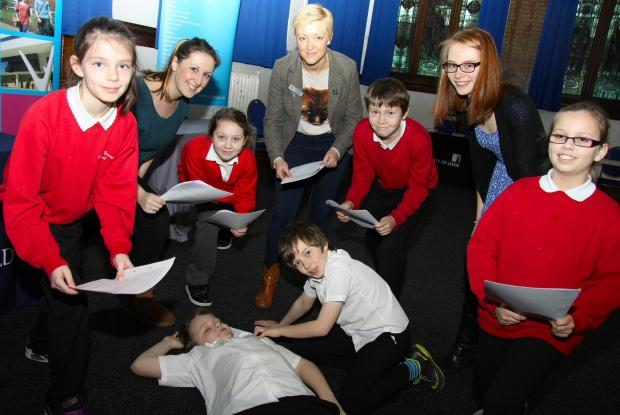 Darlington and Stockton Times: THEY'RE BARD: Year 6 students from Mount Pleasant School, Darlington