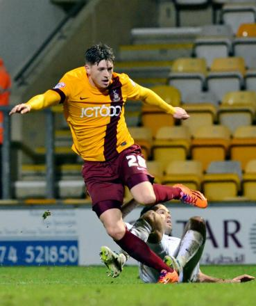 LOAN RANGER: Adam Reach spent time on loan at Bradford City this season