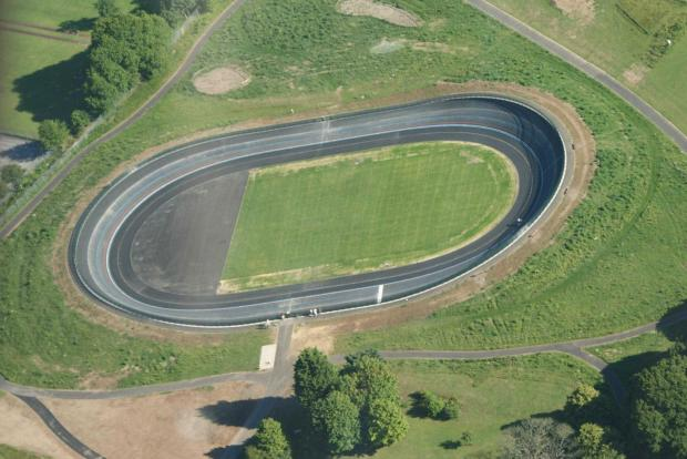 Darlington and Stockton Times: OUTDOOR TRACK: The Bournemouth velodrome, which is similar to one which will be built in York. Picture: British Cycling.