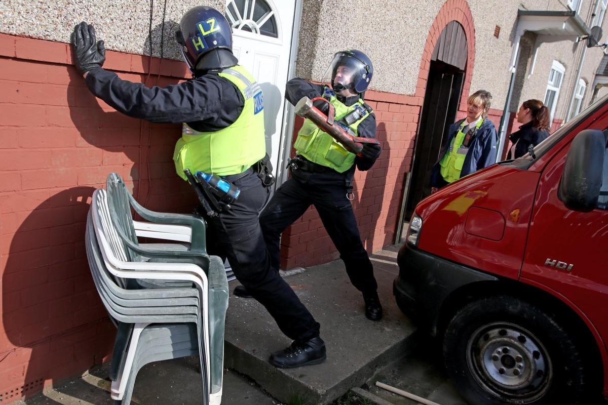 Drug Raids by Cleveland Police as part of an anti-drug action day.