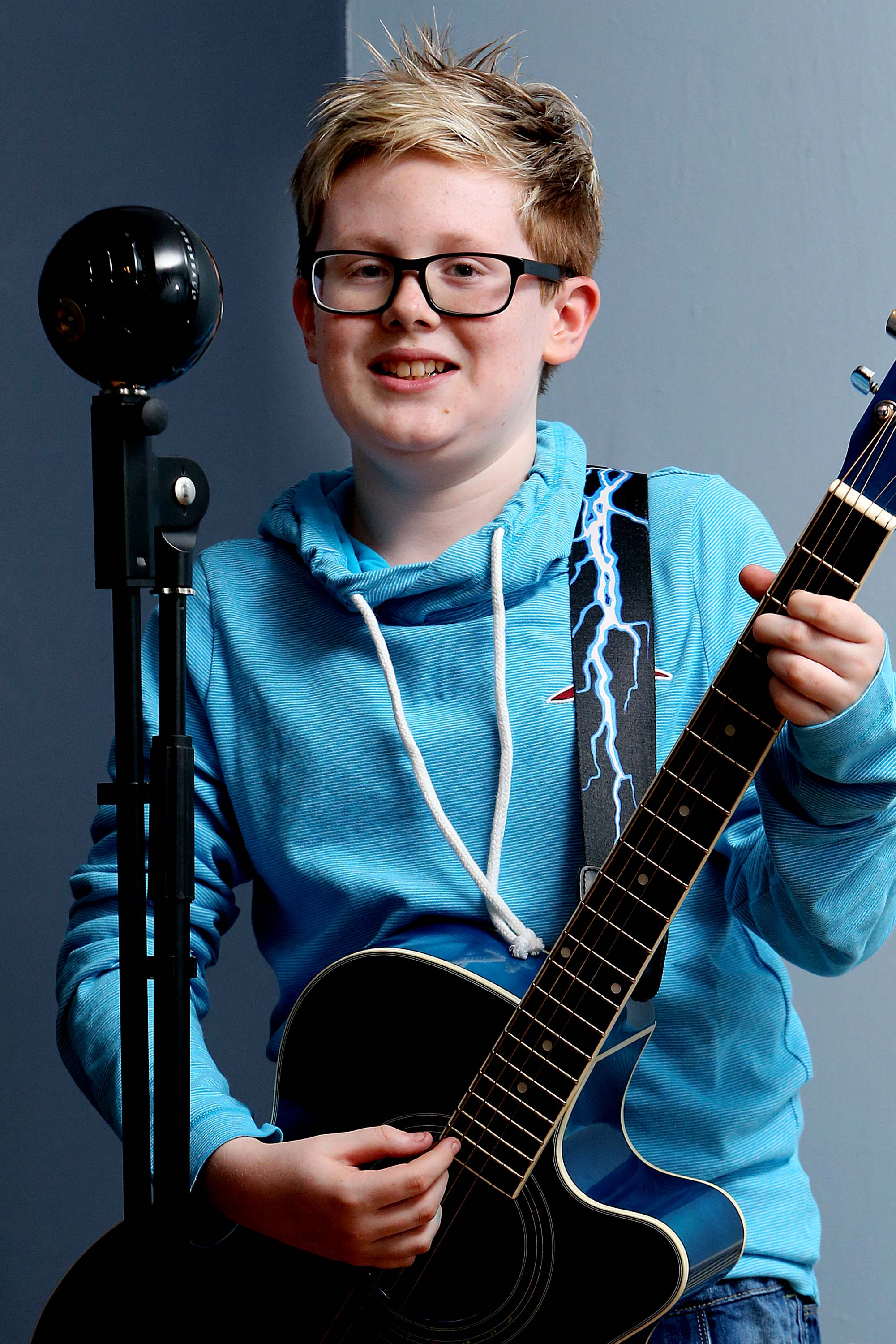 13 year old singer Ty Lewis who has made it through to the regional final of TeenStar.