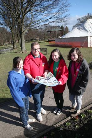 Spennymoor Youth Council members Beth Small, Kieran Cunningham, Rhiannon Stokes and Rachel Bartle discuss the skate park.