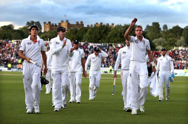 England leave the field after their victory in the Ashes test at Durham - but questions remain over the club's finances