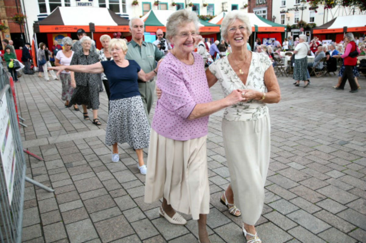 Members of Darlington Gold take part in the group's annual tea dance